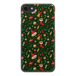 """Чехол для iPhone 8, объёмная печать """"Новогоднее настроение"""" - новый год"""
