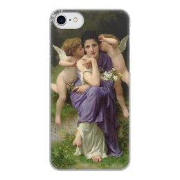 "Чехол для iPhone 8, объёмная печать ""Песни весны (картина Вильяма Бугро)"" - картина, академизм, живопись, мифология, бугро"