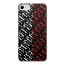 """Чехол для iPhone 8, объёмная печать """"Supreme"""" - узор, надписи, бренд, supreme, суприм"""