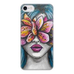 """Чехол для iPhone 8, объёмная печать """"Весна"""" - праздник, любовь, девушка, цветы, весна"""