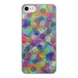 """Чехол для iPhone 8, объёмная печать """"Россыпь ярких кристаллов"""" - праздник, орнамент, подарок, абстракция, геометрия"""
