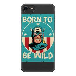 """Чехол для iPhone 8, объёмная печать """"Капитан Америка"""" - капитан америка, captain america"""