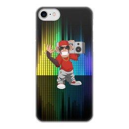 """Чехол для iPhone 8, объёмная печать """"Без названия"""" - музыка, животные, мартышка, обезьяна, бабуин"""