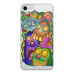 """Чехол для iPhone 8, объёмная печать """"Мексиканские черепа"""" - mexico, sculls, мексика, черепа"""