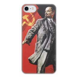 """Чехол для iPhone 8, объёмная печать """"Советский плакат, 1967 г."""" - ссср, революция, ленин, плакат, коммунизм"""