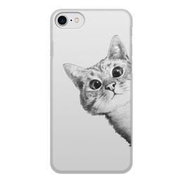 """Чехол для iPhone 8, объёмная печать """"Любопытный кот"""" - кот, стиль, cat, кошки, swag"""