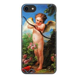 """Чехол для iPhone 8, объёмная печать """"Амур, стреляющий из лука (Шарль-Андре ван Лоо)"""" - картина, живопись, купидон, шарль-андре ван лоо"""