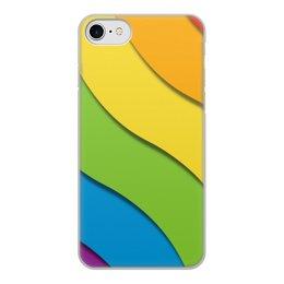 """Чехол для iPhone 8, объёмная печать """"Радуга"""" - орнамент, стиль, лгбт, узор, абстрактный"""