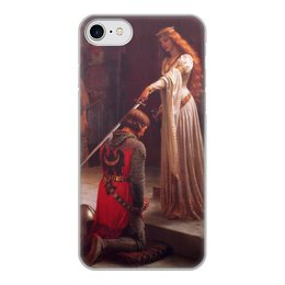 "Чехол для iPhone 8, объёмная печать ""Акколада (Эдмунд Лейтон)"" - картина, живопись, рыцари, прерафаэлиты, лейтон"