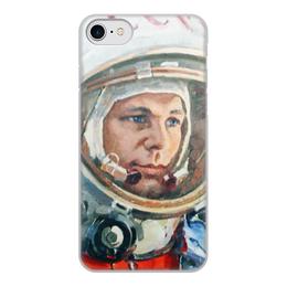 "Чехол для iPhone 8, объёмная печать ""Гагарин"" - гагарин, юрий гагарин, космонавт"