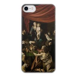 """Чехол для iPhone 8, объёмная печать """"Мадонна с чётками (Караваджо)"""" - картина, караваджо, живопись"""
