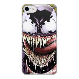 """Чехол для iPhone 8, объёмная печать """"Веном (Venom)"""" - комиксы, venom, марвел, веном, симбиот"""