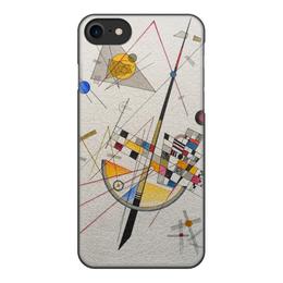 """Чехол для iPhone 8, объёмная печать """"Тонкое напряжение (Василий Кандинский)"""" - картина, кандинский, живопись"""