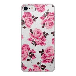 """Чехол для iPhone 8, объёмная печать """"Красные розы"""" - цветы, розы"""