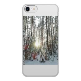 """Чехол для iPhone 8, объёмная печать """"лес и солнце,день чудесный,зима"""" - чехол, айфон 8"""