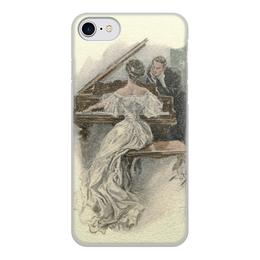 """Чехол для iPhone 8, объёмная печать """"День Святого Валентина"""" - настроение, картина, винтаж, 14фев, harrison fisher"""