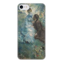 """Чехол для iPhone 8, объёмная печать """"Влюбленные (Пьер Огюст Ренуар)"""" - картина, живопись, ренуар"""