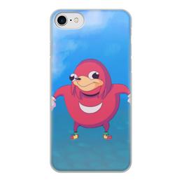 "Чехол для iPhone 8, объёмная печать ""Knuckles iPhone 8"" - iphone, meme, sonic, knuckles uganda, knuckles"