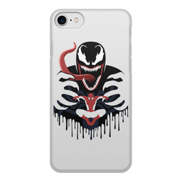 """Чехол для iPhone 8, объёмная печать """"Веном"""" - venom, веном, человек паук, марвел, spider man"""