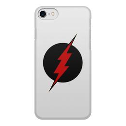 """Чехол для iPhone 8, объёмная печать """"Flash"""" - flash, молния, супергерой, флэш"""