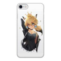"""Чехол для iPhone 8, объёмная печать """"Bowsette phone case (iPhone 8/8 Plus)"""" - mario, марио, bowsette, баузетта"""