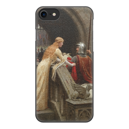 "Чехол для iPhone 8, объёмная печать ""Бог в помощь (Эдмунд Блэр Лейтон)"" - картина, живопись, лейтон"