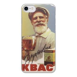 """Чехол для iPhone 8, объёмная печать """"Советский рекламный плакат, 1959 г."""" - ссср, реклама, плакат, квас"""