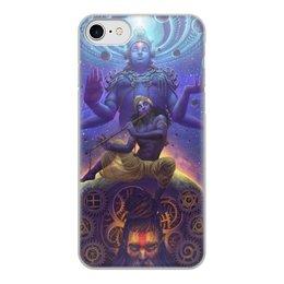"""Чехол для iPhone 8, объёмная печать """"Krishna"""" - индия, индуизм, кришна"""