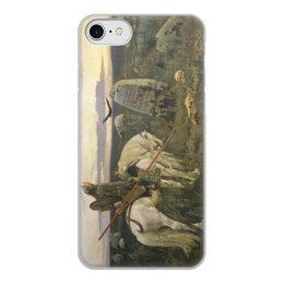 """Чехол для iPhone 8, объёмная печать """"Витязь на распутье (Виктор Васнецов)"""" - картина, сказка, живопись, васнецов, богатыри"""