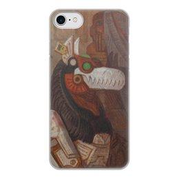 """Чехол для iPhone 8, объёмная печать """"Коллекция"""" - волк, робот, иллюстрация, фантастика"""