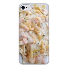 """Чехол для iPhone 8, объёмная печать """"Паста"""" - еда, фото, photo, паста, pasta"""