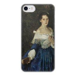 """Чехол для iPhone 8, объёмная печать """"Дама в голубом (картина Сомова)"""" - картина, портрет, живопись, модерн, сомов"""