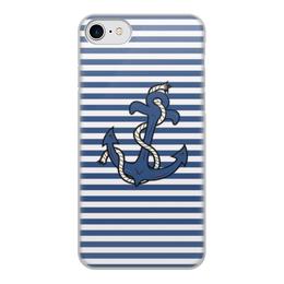 """Чехол для iPhone 8, объёмная печать """"Якорь"""" - море, якорь"""