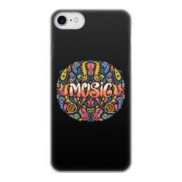 """Чехол для iPhone 8, объёмная печать """"Music"""" - музыка, music, музыкальные инструменты, ноты"""