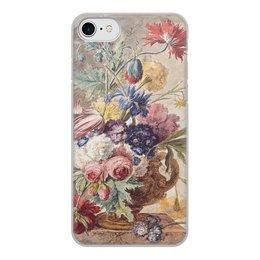 "Чехол для iPhone 8, объёмная печать ""Цветочный натюрморт (Ян ван Хёйсум)"" - цветы, картина, живопись, натюрморт, ян ван хёйсум"