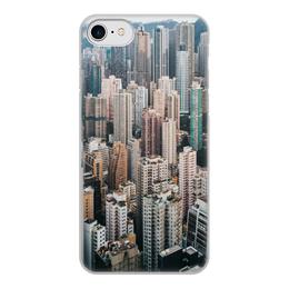 """Чехол для iPhone 8, объёмная печать """"Высотки"""" - этаж, город, ny, мегаполис, архитектура"""