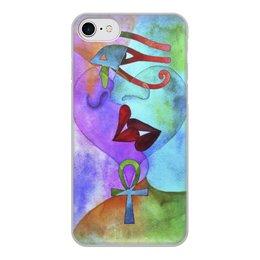"""Чехол для iPhone 8, объёмная печать """"Бесконечная любовь"""" - сердце, любовь, губы, абстракция, поцелуй"""