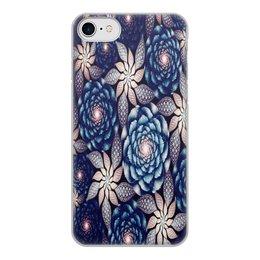 """Чехол для iPhone 8, объёмная печать """"Без названия"""" - цветы, узор, природа, цветочки, кактусы"""