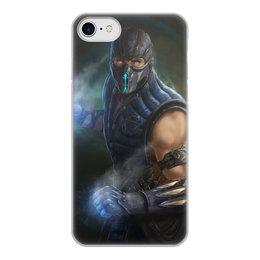 """Чехол для iPhone 8, объёмная печать """"Sub-zero"""" - mortal kombat, смертельная битва, мортал комбат, саб-зиро"""