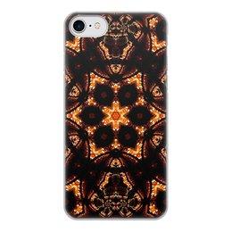 """Чехол для iPhone 8, объёмная печать """"Голос Огня"""" - огонь, подарок, абстракция, мандала, фрактал"""
