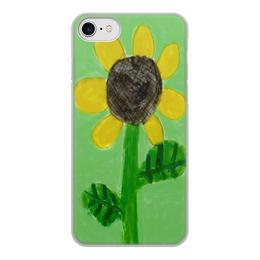 """Чехол для iPhone 8, объёмная печать """"Подсолнух"""" - солнце, подсолнух"""