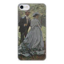 """Чехол для iPhone 8, объёмная печать """"Базиль и Камилла (картина Клода Моне)"""" - любовь, картина, импрессионизм, живопись, моне"""