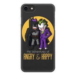 """Чехол для iPhone 8, объёмная печать """"Бэтмен и Джокер"""" - batman, joker, джокер, бэтмен"""