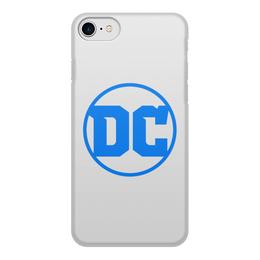 """Чехол для iPhone 8, объёмная печать """"DC Comics"""" - dc comics, dc logo"""