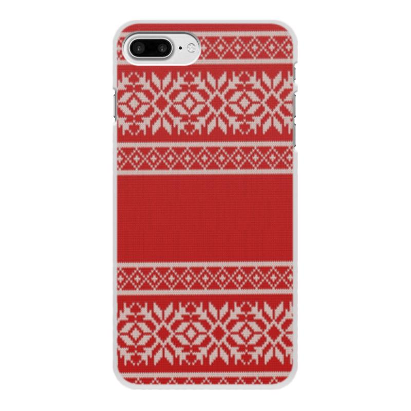 Чехол для iPhone 8 Plus, объёмная печать Printio Узоры чехол для карточек узоры сова лиса енот