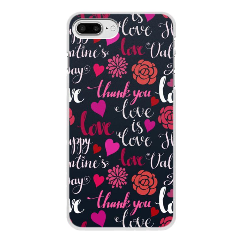Чехол для iPhone 8 Plus, объёмная печать Printio День св. валентина чехол для iphone 5 printio чехол с мыслями о любви