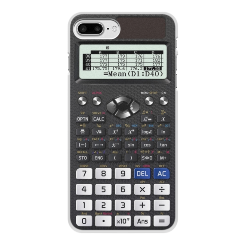 Чехол для iPhone 8 Plus, объёмная печать Printio Калькулятор инженерный калькулятор iphone цвет белый 002279