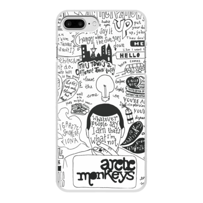 Чехол для iPhone 8 Plus, объёмная печать Printio Arctic monkeys цена