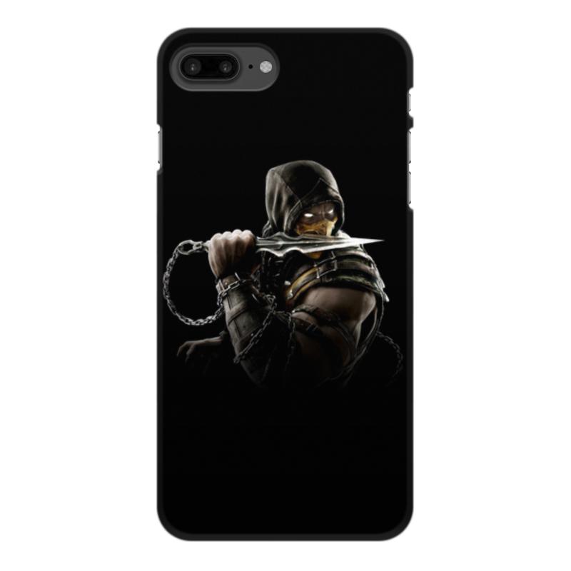 Чехол для iPhone 8 Plus, объёмная печать Printio Mortal kombat (scorpion) чехол для iphone 5 5s объёмная печать printio mortal kombat scorpion