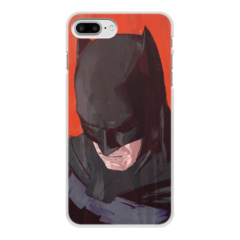 Чехол для iPhone 8 Plus, объёмная печать Printio Бэтмен цена